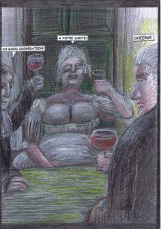 Seite 44 - Das Trio trinkt auf den erfolgreichen, segensreichen Vertragsabschluss.