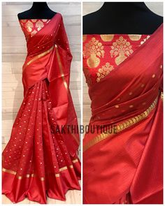 ❗❗ SOLD OUT ❗❗ Soft Silk Cotton saree with pure benaras silk brocade blouse material ✨ Please WhatsApp Brocade Saree, Silk Saree Kanchipuram, Brocade Blouses, Silk Brocade, Indian Silk Sarees, Silk Cotton Sarees, Cotton Silk, Jute Silk Saree, Brocade Blouse Designs