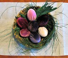 Velvet Easter eggs, table decor, home decor Mother Gifts, Easter Eggs, Velvet, Table Decorations, Creative, Interior, Plants, Boxes, Home Decor