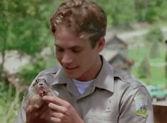 """When he showed his animal support by feeding this prairie dog a Twizzler. 