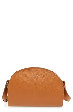 A.P.C. 'Demi Lune' Snake Embossed Leather Crossbody Bag. #a.p.c. #bags #shoulder bags #leather #crossbody #