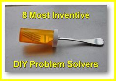 Eight Most Inventive DIY Problem Solvers From LifeHacker Things To Know, Good Things, Random Things, 1000 Lifehacks, New Inventions, Creative Inventions, Making Life Easier, Do It Yourself Home, Home Hacks