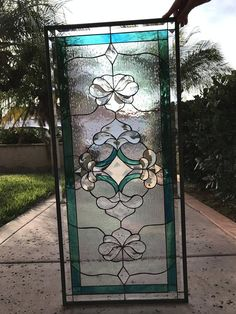 image 0 Stained Glass Door, Fused Glass Art, Glass Wall Art, Leaded Glass, Beveled Glass, Mosaic Glass, Glass Doors, Victorian Stained Glass Panels, Window Glass Design
