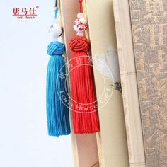 Chinese blue and white porcelain tassels handicraft souvenir gift Bookmark #TomHorse #BridalShowerWedding
