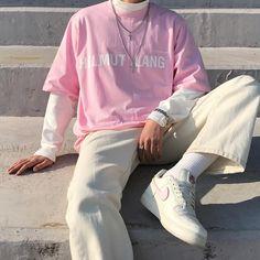 Korean Fashion – How to Dress up Korean Style – Designer Fashion Tips Grunge Winter Outfits, Outfits Hipster, Indie Outfits, Boy Outfits, Men Hipster, Fashion Outfits, Winter Grunge, Summer Grunge, Pink Outfits