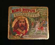 vintage King Rufus metal tin cigarette box | eBay