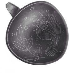 Kupittaa, Finland. Midcentury Art Ceramics. Bowl by H.C von Rumsolykin, marked H.C.vR