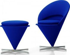 modern armchairs by hive  The Heart Cone Chair is a variation of Panton's original Cone Chair, shown here. Panton designed the first run of hearts for the restaurant his parents owned, The Komigen Inn, in Denmark.