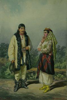 Carol Popp de Szathmáry, Bucovina Folk Fashion, Central Europe, Vintage Photographs, Romania, Painting & Drawing, Sculptures, Royalty, Drawings, Folklore