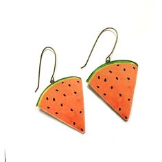 Watermelon Earrings, Summer Gift, Fruit jewelry, Food earrings, Cool,... (314.665 IDR) ❤ liked on Polyvore featuring jewelry, earrings, statement drop earrings, green drop earrings, red dangle earrings, drop earrings and green earrings