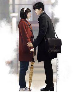 Disney Sketches, Fashion Couple, Disney Fan Art, Korean Celebrities, Drama Movies, Manga Girl, I Miss U, Bo Gum, Couple Relationship