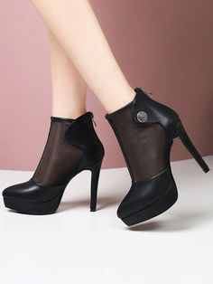Style : Sexy Upper Material : PU Occasion : Daily Casual Color : Ecru White, Black The post Pointed Toe Metal Details Stiletto Ankle Boots appeared first on Power Day Sale. Black Heel Boots, High Heel Boots, Black Heels, Shoes Heels Boots, Heeled Boots, Ankle Boots, High Heels, Womens Summer Shoes, Long Boots