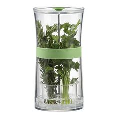 Herb Keeper - Keep fresh herbs or asparagus crisp and green longer than mere refrigeration by immersing the stems in water. Clear plastic keeper has a removable insert with water fill line and perforated cup for easy draining. Green silicone gasket provides resistance, allowing herbs to rest in a raised position for easy access. Large capacity keeper fits in most refrigerator doors.