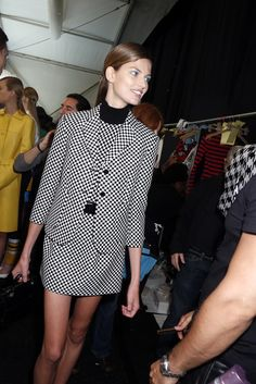 Backstage at Michael Kors RTW Spring 2013