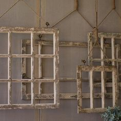 Make a dramatic display in your home with these 4 Piece Window Frame Wall Décor Set. Layer them on top of each other for a visually stunning arrangement like pictured. Or hang them besides 1 other for a cleaner look.