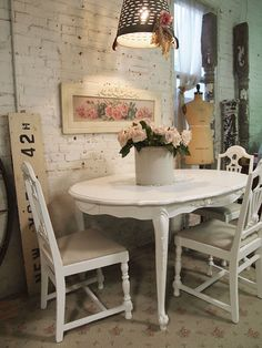 Painted+Cottage+Chic+Shabby+White+French+Dining+by+paintedcottages,+$495.00