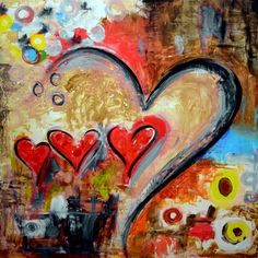 """HEART PAINTINGS AND HEART ART Title: """"The Patience of Love"""" This touching dramatic piece shows the beauty of two hearts combining as one in perfect union. Description from pinterest.com. I searched for this on bing.com/images"""