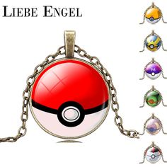 Find More Pendant Necklaces Information about LIEBE ENGEL Fashion Pokemon Poke Ball Picture Glass Cabochon Pendant Necklace New Bronze Jewelry Vintage Statement Necklace,High Quality jewelry necklace designs,China jewelry free Suppliers, Cheap jewelry clasp from LIEBE ENGEL Official Store on Aliexpress.com