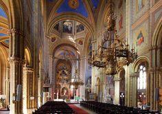 Wien - Altlerchenfelder Pfarrkirche, Innenansicht - Eduard van der Nüll –… Barcelona Cathedral, Van, Arquitetura, Vans, Vans Outfit