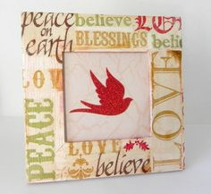 Decoupage a frame with words that you cherish – video step by step.