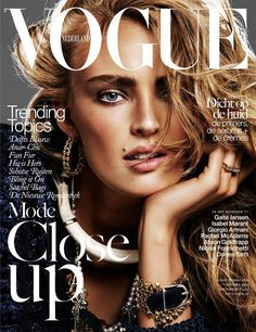 """Vogue Netherlands October 2013 Cover  Really COOL""""""""""""  In this picture:  Ymre Stiekema Credits for this picture:  Alique (Photographer)  Ilham Mestour (Hair Stylist)"""