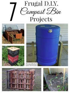 Would you like to compost your kitchen and yard waste, but don't have a compost pile? Here are 7 frugal DIY compost bin projects to help you create one!