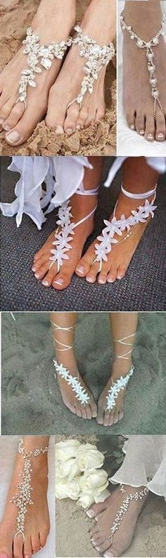 Beach Wedding Barefoot Sandals - or for those of us who like to be barefoot!