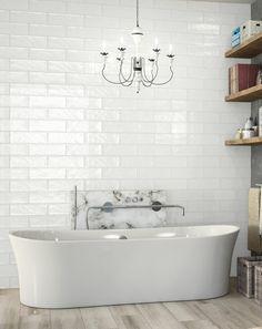 Vintage Fliesen Badezimmer Ideen Weiße Wanne