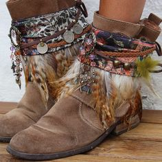 Dress up your boots with these one of a kind ethnic handmade boot covers! Perfect match for black boots.