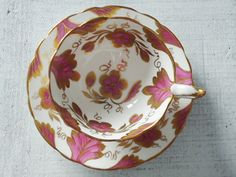 Vintage Tea Cups and Saucers  Cup and Saucer by SwirlingOrange11, $44.00