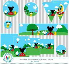 Kit Festa Casa do Mickey mod:07 Funny Mickey House Printable Party