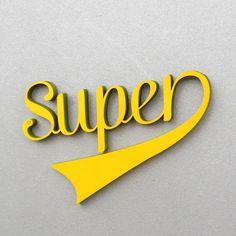 """Buchstaben & Schriftzüge - """"Super"""" Deko Holzschriftzug - ein Designerstück von NOGALLERY bei DaWanda"""