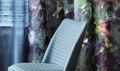 Floral opulence at the window - Création Baumann  #boyac #interior #deisgn #floral #fabric #collection #trend