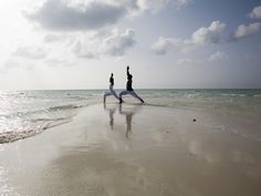 Enjoy couples yoga on the beaches of Parrot Cay Island of Turks and Caicos. Honeymoon Getaways, Dream Vacations, Bhutan, Turks And Caicos Villas, Special T, Bali, Thailand, Hotel Packages, Luxury Spa
