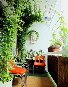 balcony trellis, for shade.