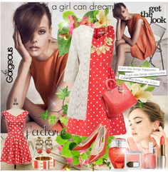 """Coral"" by anne-irene ❤ liked on Polyvore"