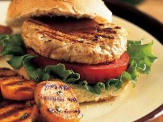 Barbecue Turkey Burgers | Burgers don't have to be made from beef to be delicious and satisfying. These turkey burgers are ultra-moist and tasty, making them a great alternative to traditional high-fat beef patties.