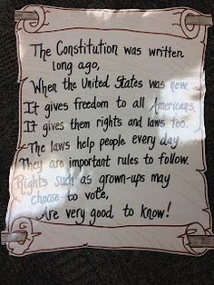 Constitution anchor chart