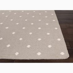 Hand-Made Geometric Pattern Gray/ Ivory Wool Rug (8x10) | Overstock.com Shopping - Great Deals on JRCPL 7x9 - 10x14 Rugs