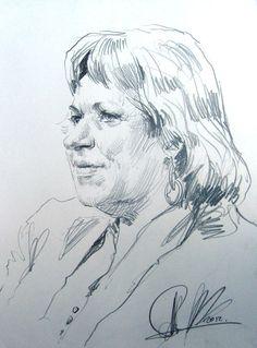 Женский портрет с натуры. Точин Алексей. бумага, графитный (простой) карандаш