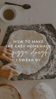 Pizza Recipes, Dinner Recipes, Cooking Recipes, Pain Pizza, Pizza Pizza, Recipe For Homemade Pizza Dough, Simple Pizza Dough Recipe, Bread Dough Recipe, Pasta
