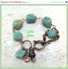 Spring Sale Green Aventurine Bracelet Heart Chakra by lyrisgems