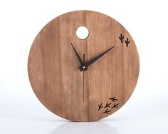 Clock The bird has left the clock por DesignAtelierArticle en Etsy, $97.48