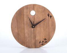 Clock The bird has left the clock por DesignAtelierArticle en Etsy, $97.48