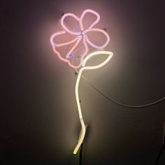 Neon flower Neon Artwork, Neon Flowers, Neon Signs, Rose, Artist, Decor, Pink, Decoration, Artists