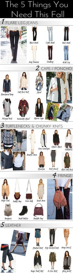 Trying to navigate this season's fashion trends? Here are the five easy things you need this fall and winter. Daily Fashion, Teen Fashion, Fashion Trends, Fashion 101, Fall Wardrobe, Work Wardrobe, Capsule Wardrobe, Autumn Winter Fashion, Winter Style