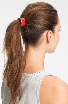 Jazz up your pony. Enamel Cuff Ponytail Holder (in so many colors!)