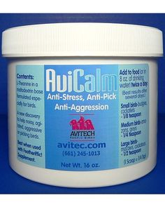Parrot Calming Supplements, Avitech AviCalm at All Parrot Products