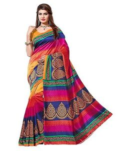 Presenting you ethnic and traditional Bollywood saree. This sari can be used in casual, party and wedding ceremony to look attractive. Sale For: 1 Sari with Unstitched Blouse Fabric. We Do not provide any stitching service for blouse or the fall. Designer Sarees Collection, Latest Designer Sarees, Saree Collection, Latest Sarees, Art Silk Sarees, Silk Sarees Online, Fancy Sarees, Party Wear Sarees, Chiffon Saree