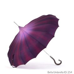 Umbrella ID 254 | Light Purple to Rich Dark Purple Ombre Pagoda Umbrella | Black Hook Handle | Bella Umbrella | Vintage Umbrella Rentals